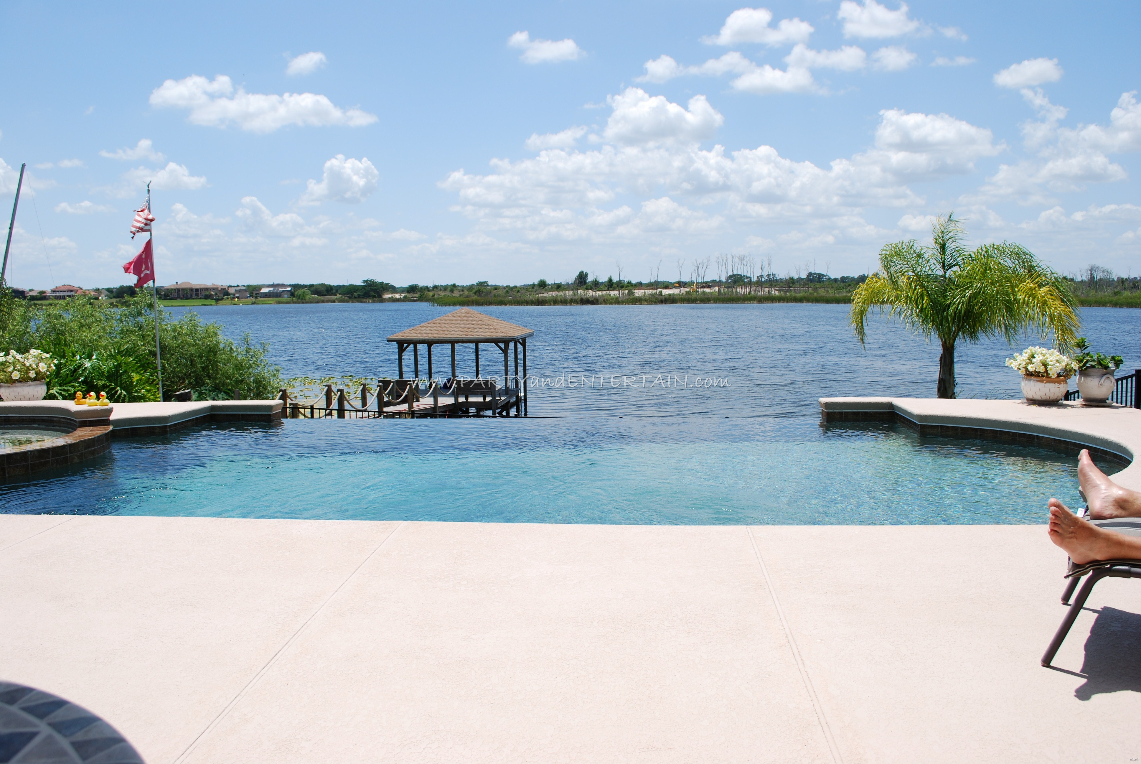 partyandentertain.pool.lake.outdoor
