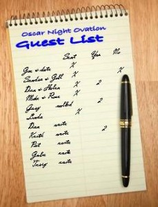 list, guests, organize, invite, invitation list, party, entertain