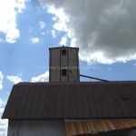 old Kingston Mill tin roof blue sky